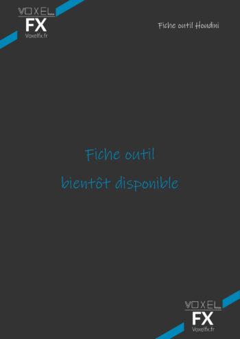 Voxel FX – Fiche Outil Houdini – Bientot dispo