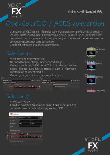 Voxel FX – Fiche Outil Houdini 8 – ACES Conversion